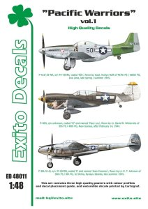 EXITO DECALS ED48011 - 1:48 Pacific Warriors vol.1 - P-40 - P-51 - P-38