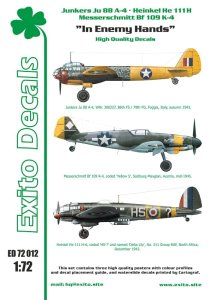 EXITO DECALS ED72012 - 1:72 In Enemy Hands - Bf 109 - He 111 - Ju 88