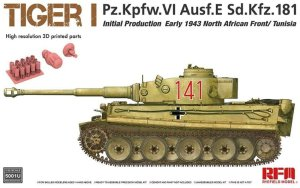 RYE FIELD MODEL 5001U - 1:35 Tiger I Pz.Kpfw. VI Ausf E Early 1943 North African Front - Tunisia