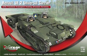 MIRAGE 355027 - 1:35 Renault UE 2 Universal Carrier with Tracked Transport Trolley ( French Version )