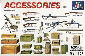 ITALERI 0407 - 1:35 Accessories and guns (WW II US & British)
