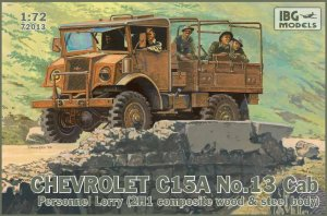 IBG 72013 - 1:72 Chevrolet C.15A No.13 Cab Personnel Lorry
