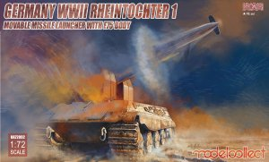 MODELCOLLECT UA72092 - 1:72 Germany WWII Rheintochter 1 Movable Missile Launcher with E75 Body