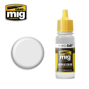 AMMO MIG 047 - Satin White - acrylic paint 17ml