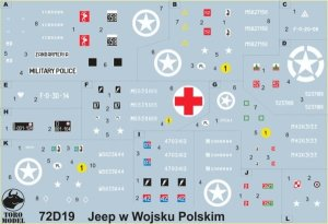 TORO MODEL 72D19 - 1:72 Willys Jeep in Polish service