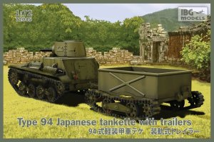 IBG 72045 - 1:72 Type 94 Japanese tankette with trailers