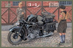 IBG 35001 - 1:35 BMW R12 with sidecar - civilian version
