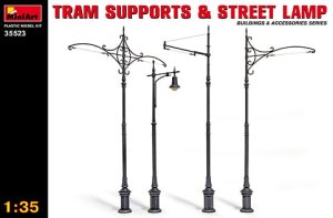 MINIART 35523 - 1:35 Tram Supports and Street Lamps
