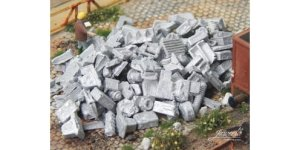 JUWEELA 28189 - 1:87 Industrial metal scrap of aluminium 75 g