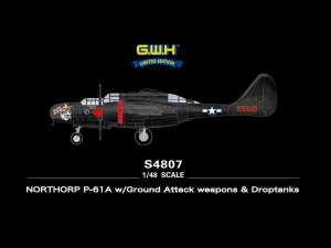 GREAT WALL HOBBY S4807 - 1:48 Northrop P-61A w/Ground Attack weapons & Droptanks