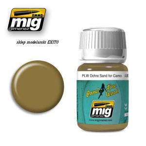 AMMO MIG 1622 - Panel Line Wash - Ochre for Sand Camo