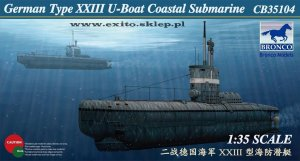 BRONCO CB 35104 - 1:35 German Type XXIII U-Boat Coastal Submarine