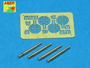 ABER A32008 - 1:32 Set of 4 barrels for German Oerlikon 20mm MG FF