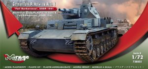 MIRAGE 728055 - 1:72 German Tank Pz.Kpfw. IV Ausf. E Fall Barbarossa USSR 1941