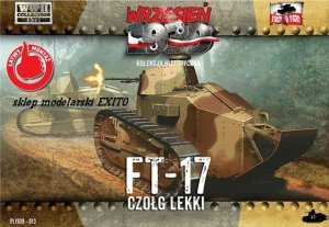 FIRST TO FIGHT 013 -  September 1939 - 1:72 Renault FT-17 light tank