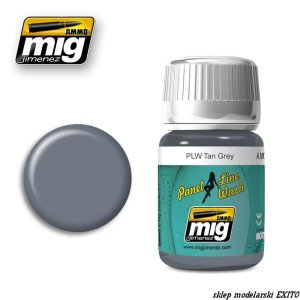 AMMO MIG 1610 - Panel Line Wash - Tan Grey
