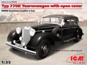 ICM 35534 - 1:35 Typ 770K Tourenwagen with open cover - WWII German Leader's Car