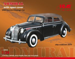 ICM 24022 - 1:24 Admiral Cabriolet with open cover, WWII German Passenger Car
