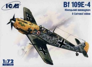 ICM 72132 - 1:72 Bf 109E-4, WWII German Fighter