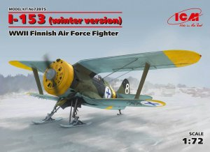 ICM 72075 - 1:72 I-153 WWII Finnish Air Force Fighter (winter version)