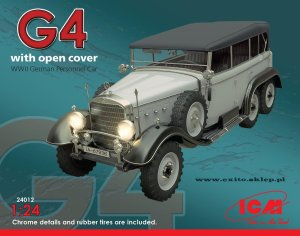 ICM 24012 - 1:24 Typ G4 with open cover WWII German Personnel Car