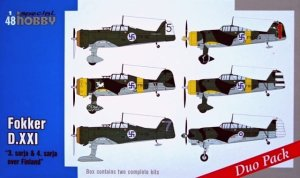 SPECIAL HOBBY 48124 - 1:48 Fokker D.XXI Duo Pack - 3 sarja & 4 sarja over Finland