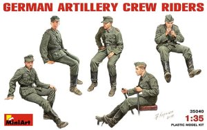 MINIART 35040 - 1:35 German Artillery Crew Riders