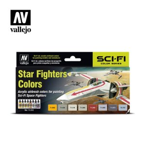 VALLEJO 71612 - Sci-Fi Star Fighters Colors - Model Air Set