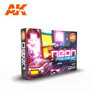 AK INTERACTIVE 11610 - Neon Colors - Set 6 x 17 ml