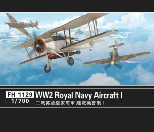 FLYHAWK 1129 - 1:700 WW2 Royal Navy Aircraft I - Fulmar, Swordfish, Hurricane