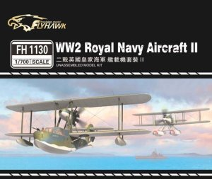 FLYHAWK 1130 - 1:700 WW2 Royal Navy Aircraft II - Supermarine Walrus, Fairey Seafox