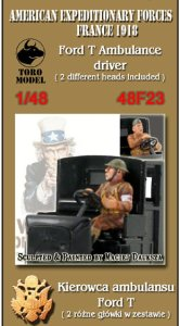 TORO MODEL 48F23 - 1:48 American Expeditionary Forces, France 1918 - Ford T Ambulance driver