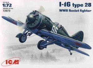 ICM 72073 - 1:72 I-16 type 28 WWII Soviet Fighter