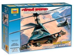 "ZVEZDA 7232 - 1:72 Kamov Ka-58 ""Black Ghost"" stealth helicopter"