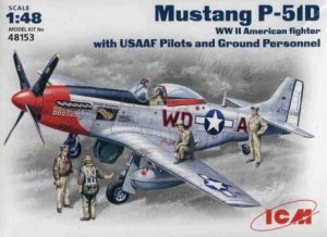 ICM 48153 - 1:48 Mustang P-51D US Pilots and Technics