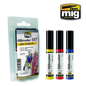 AMMO MIG 7504 - Oilbrusher Set - Basic Colors Set