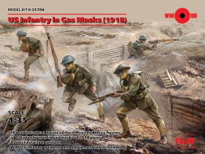 ICM 35704 - 1:35 US Infantry in Gas Masks (1918)