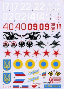 AUTHENTIC DECALS AD4801 - 1:48 Sukhoi Su-24 M Fencer D