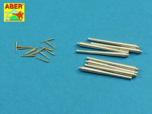 ABER 1:400L-09  - 1:400 Set of barrels for Battleship Hood , 381 mm x 8, 102 mm x 14