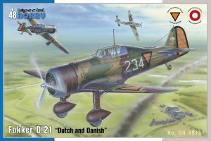 SPECIAL HOBBY 48181 - 1:48 Fokker D.21 Dutch and Dannish