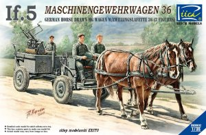 RIICH MODELS 35012 - 1:35 German If.5 Maschinengewehrwagen 36 horse drawn