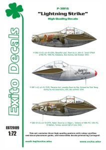 EXITO DECALS ED72009 - 1:72 Lightning Strike