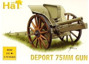 HAT 8242 - 1:72 WWI Deport 75mm Gun