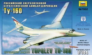 ZVEZDA 7002 - 1:144 Russian Supersonic Strategic Bomber Tu-160