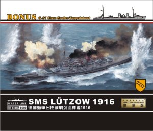 FLYHAWK 1301S - 1:72 SMS Lutzow 1916 German Battlecruiser w/ G-37 Class Torpedoboot - Limited Edition