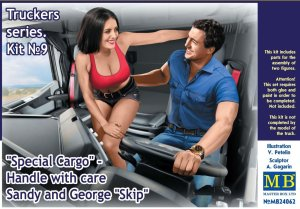 MASTER BOX 24062 - 1:24 Special Cargo - Handle with care Sandy and George Skip