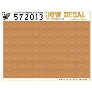 HGW 572013 - 1:72 Light Wood Natural - Base White