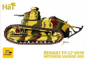 HAT 8114 - 1:72 Renault FT-17 with Hotchkiss machine gun