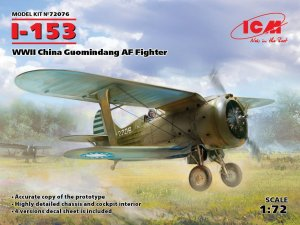 ICM 72076 - 1:72 I-153 WWII China Guomindang AF Fighter