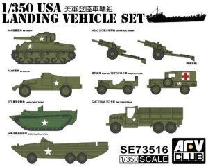 AFV CLUB SE 73516 - 1:350 USA Landing Vehicle Set